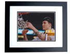 Miles Plumlee Signed - Autographed Duke Blue Devils 8x10 inch Photo BLACK CUSTOM FRAME - Guaranteed to pass PSA or JSA - 2010 National Champion