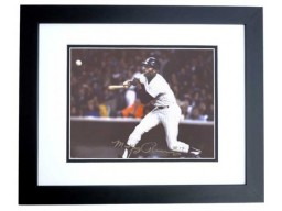 Mickey Rivers Signed - Autographed New York Yankees 8x10 inch Photo BLACK CUSTOM FRAME - Guaranteed to pass PSA or JSA - 2x World Series Champion