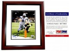 Matthew Stafford Signed - Autographed Detroit Lions 8x10 inch Photo MAHOGANY CUSTOM FRAME - PSA/DNA Certificate of Authenticity (COA)
