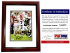 Matthew Stafford Signed - Autographed Georgia Bulldogs 8x10 inch Photo - MAHOGANY CUSTOM FRAME - PSA/DNA Certificate of Authenticity (COA)