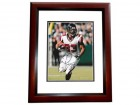 Michael Turner Signed - Autographed Atlanta Falcons 8x10 inch Photo MAHOGANY CUSTOM FRAME - Guaranteed to pass PSA or JSA