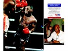Mike Tyson Signed - Autographed Boxing action 16x20 inch Photo with photo of Tyson signing photos - Witnessed by PSA/DNA Certificate of Authenticity (ITP COA)