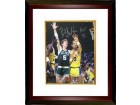 Bill Walton signed Boston Celtics 16x20 Photo HOF 93 Custom Framed (vs Kareem Abdul-Jabbar)
