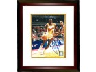 Dominique Wilkins signed Atlanta Hawks Driving to Goal 8x10 Photo Custom Framing