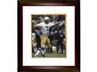 Joe Theismann signed Notre Dame Fighting Irish 8X10 Photo Go Irish Custom Framed (Leaf)