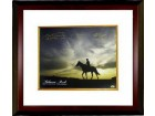 Seattle Slew signed Belmont Stakes Winners Belmont Park Sunrise Horse Racing 16x20 Photo Custom Framed w/ 3 Sig