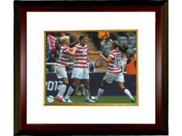 Abby Wambach signed 16X20 Photo Celebration vs New Zealand 2012 London Olympics Custom Framed (Women's Soccer Team USA)