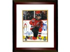 Adam Henrique signed New Jersey Devils 8x10 Photo Custom Framed vertical on knee