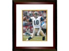 Marc Bulger signed St. Louis Rams 16X20 Photo Custom Framed (white jersey pass)- Bulger Hologram
