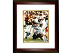 Eddie George signed Tennessee Oilers 8x10 Photo Custom Framed (1997 Inaugural Season-white jersey)