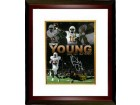 Vince Young signed Texas Longhorns 8x10 Photo Custom Framed (Rose Bowl Collage)