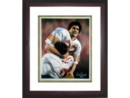 Doug Flutie signed Boston College 11X14 Photo Dual Sig In Arms Custom Framed