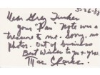 Mae Clarke Signed - Autographed 3x5 inch index card - Guaranteed to pass PSA or JSA with note - Deceased 1992 - Frankenstein Actress