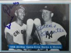 Mickey / Banks, Ernie Mantle Signed 1982 The Mickey Mantle Story Baseball Card (# 37)