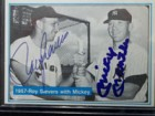 Mickey / Sievers, Roy Mantle Signed 1982 The Mickey Mantle Story Baseball Card (# 30)