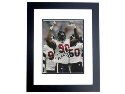 Mario Williams Signed - Autographed Houston Texans 8x10 inch Photo BLACK CUSTOM FRAME - Guaranteed to pass PSA or JSA