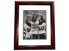 Mario Williams Signed - Autographed Houston Texans 8x10 inch Photo MAHOGANY CUSTOM FRAME - Guaranteed to pass PSA or JSA