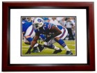 Mario Williams Signed - Autographed Buffalo Bills 8x10 inch Photo MAHOGANY CUSTOM FRAME - Guaranteed to pass PSA or JSA