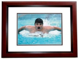 Mark Spitz Signed - Autographed Olympic Swimmer 8x10 inch Photo MAHOGANY CUSTOM FRAME - Guaranteed to pass PSA or JSA