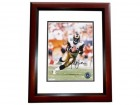 Marshall Faulk Signed - Autographed St. Louis Rams 8x10 inch Photo MAHOGANY CUSTOM FRAME - Guaranteed to pass PSA or JSA