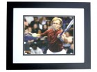 Martina Navratilova Autographed Tennis 8x10 Photo BLACK CUSTOM FRAME