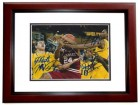 Mitch McGary, Tim Hardaway Jr, and Glenn Robinson III Signed - Autographed Michigan Wolverines 8x10 UM Photo MAHOGANY CUSTOM FRAME