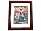 Mercury Morris Signed - Autographed Miami Dolphins 8x10 inch Photo MAHOGANY CUSTOM FRAME - Guaranteed to pass PSA or JSA