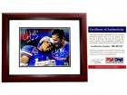Urban Meyer and Chris Leak Signed - Autographed Florida Gators UF 8x10 inch Photo - 2006 BCS National Champions - MAHOGANY CUSTOM FRAME - PSA/DNA Certificate of Authenticity (COA)