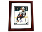 Mike Bossy Signed - Autographed New York Islanders 8x10 inch Photo MAHOGANY CUSTOM FRAME - Guaranteed to pass PSA or JSA