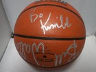 NBA Basketball (Bill Walton/Danny Manning/Stacey Augmon/Bo Kimble) Signed Spalding Indoor/Outdoor Basketball by Bill Walton, Danny Manning, Stacey Augmon, & Bo Kimble)