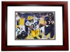 Nick Collins Signed - Autographed Green Bay Packers 8x10 inch Photo MAHOGANY CUSTOM FRAME - Guaranteed to pass PSA or JSA - SUPER BOWL XLV CHAMPS