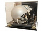 Deluxe Helmet Display Case With Mirrored Back And Gold Or Silver Risers