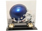 NFL Mini Helmet Display Case With Gold Or Silver Risers
