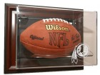 Washington Redskins Football Case-Up - Wall Mount - Mahogany Frame