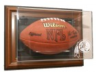 Washington Redskins Football Case-Up - Wall Mount - Brown Frame