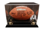 Deluxe Washington Redskins Football Display Case