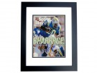 Natrone Means Autographed San Diego Chargers Sports Illustrated Cover BLACK CUSTOM FRAME