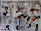 New York's World Series Heroes (Don Larsen / Johnny Podres / Dusty Rhodes) Signed 16x20 Photo By Don Larsen, Johnny Podres and Dusty Rhodes (w/ Inscriptions)