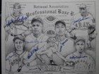 Negro Leagues Legends Signed 16x20 Lithograph by Lester Lockett, Joe Barnes, Ted Double Duty Ratcliffe, Buck O'Neil, Casey Jones, Bobby Robinson, & Josh Johnson)