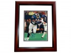 Ottis Anderson Signed - Autographed New York Giants 8x10 inch Photo MAHOGANY CUSTOM FRAME - Guaranteed to pass PSA or JSA - 2x Super Bowl Champion