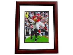 Owen Daniels Signed - Autographed Houston Texans 8x10 inch Photo MAHOGANY CUSTOM FRAME - Guaranteed to pass PSA or JSA