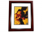 Oscar De La Hoya Signed - Autographed Boxing 8x10 inch Photo MAHOGANY CUSTOM FRAME - Guaranteed to pass PSA or JSA