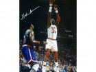 Hakeem Olajuwon Autographed Houston Rockets 16x20 Photo (vs Ewing)