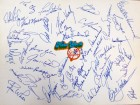 1977 New York Yankees Autographed 11x14 Team Sheet With 44 Signatures Including Thurman Munson, George Steinbrenner, Billy Martin, Yogi Berra & Reggie Jackson JSA #Z22188