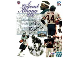 Walter Payton Signed Bears 'Legend Among Us' Collage 8x10 Photo w/Sweetness & 16,726