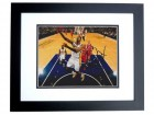 Paul George Signed - Autographed Indiana Pacers 8x10 Photo BLACK CUSTOM FRAME