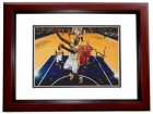 Paul George Signed - Autographed Indiana Pacers 8x10 inch Photo MAHOGANY CUSTOM FRAME - Guaranteed to pass PSA or JSA
