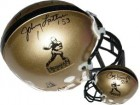 Paul Hornung signed Heisman Authentic Mini Helmet- w/ Johnny Lattner (Notre Dame)