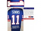 Phil Simms Signed - Autographed Custom Blue Jersey with Embroidered Stats and GTSM - PSA/DNA Certificate of Authenticity (COA) - New York Giants