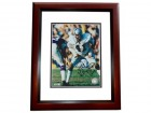 Phil Villapiano Signed - Autographed Oakland Raiders 8x10 inch Photo MAHOGANY CUSTOM FRAME - Guaranteed to pass PSA or JSA